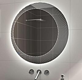 Runder Badezimmerspiegel.Runder Badspiegel Mit Led Beleuchtung Glaswerk24