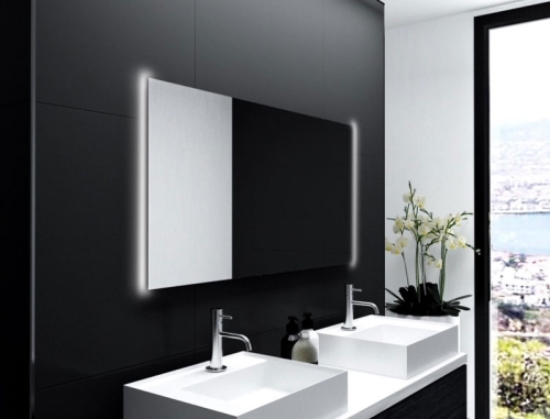 Badezimmerspiegel Mit Lampe.Badspiegel Mit Led Beleuchtung Hinterleuchtet Glaswerk24