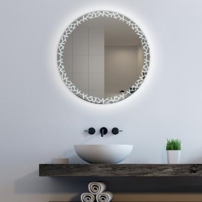 Runder Badspiegel Mit Led Beleuchtung Glaswerk24