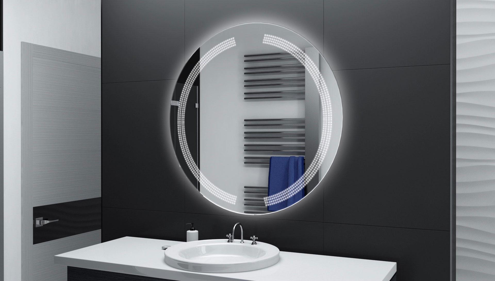 sch ne badspiegel rund mit beleuchtung emaison co. Black Bedroom Furniture Sets. Home Design Ideas