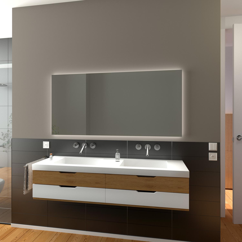 Badspiegel Lambelle mit LED Beleuchtung   Glaswerk20