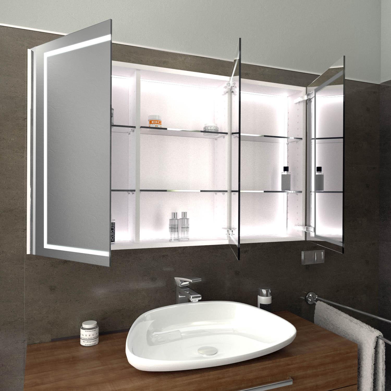 LED Badspiegelschrank MELLE nach Maß   Glaswerk20