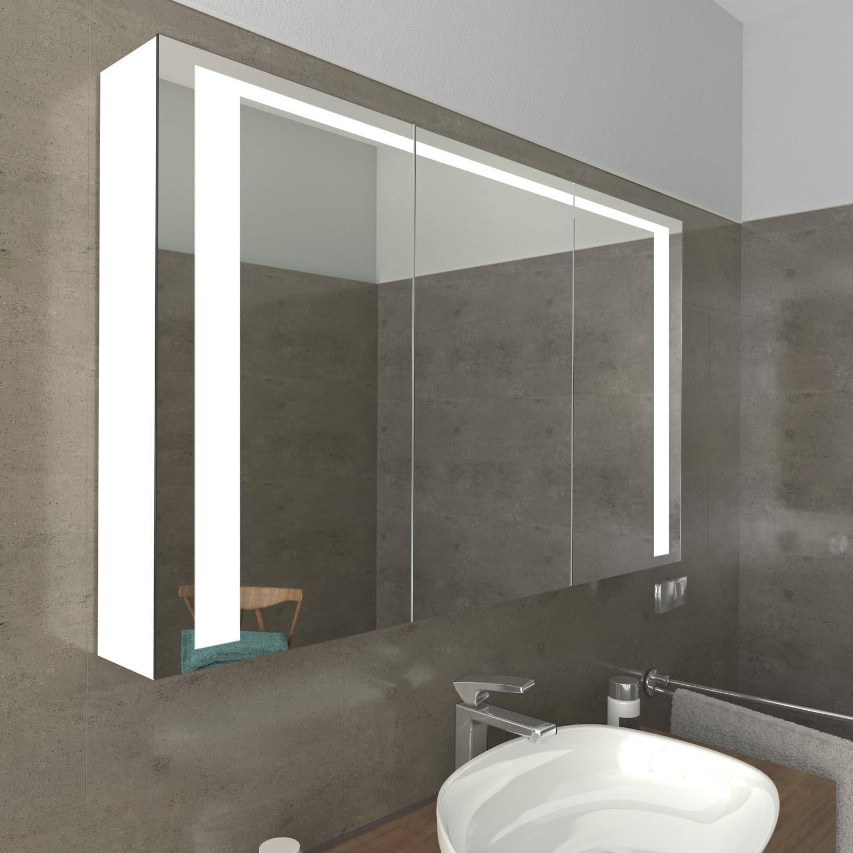 Spiegelschrank Bergen mit LED Beleuchtung   Glaswerk20