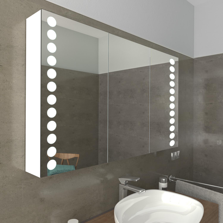 MIAMI Moderne Badezimmerspiegel mit LED-Beleuchtung Maß+EXTRAS