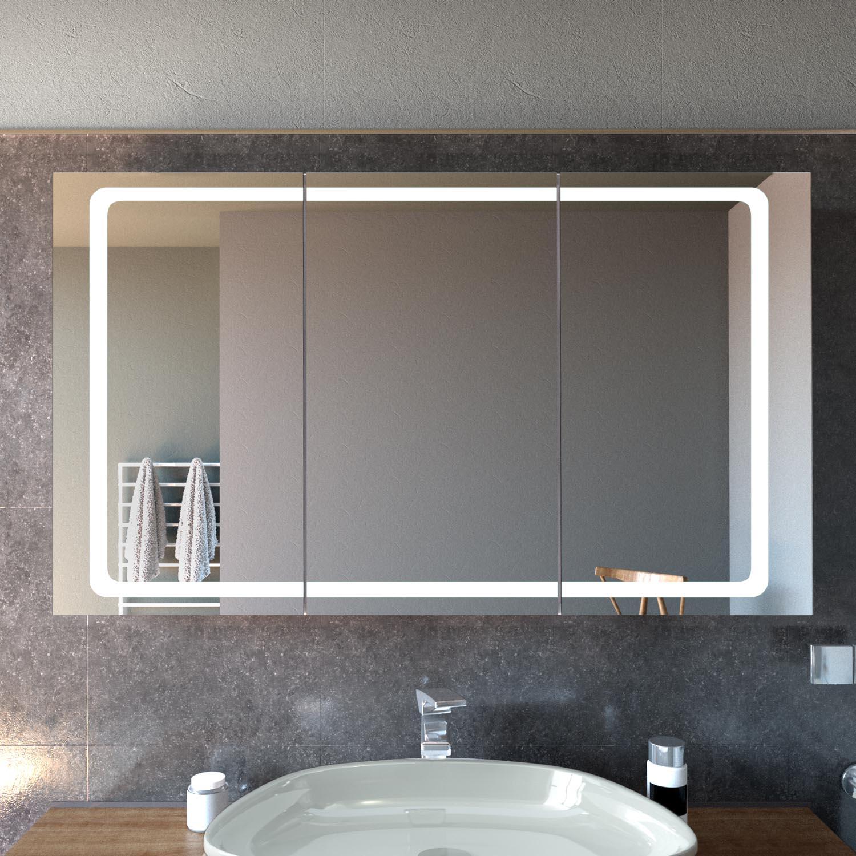 Spiegelschrank Mit Led Beleuchtung Cork Glaswerk24