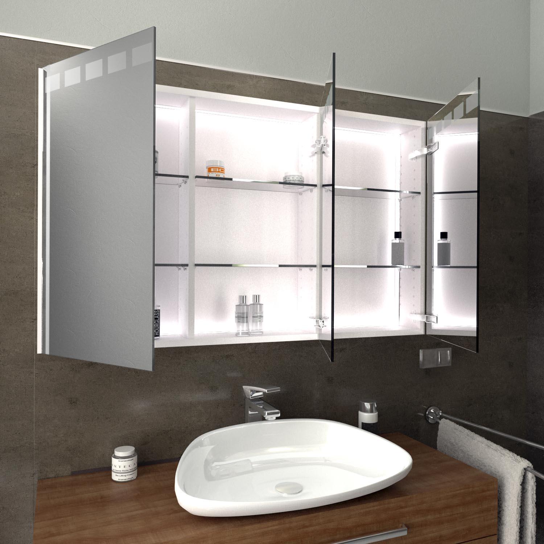 Spiegelschrank mit LED Beleuchtung ROSKILDE  Glaswerk17