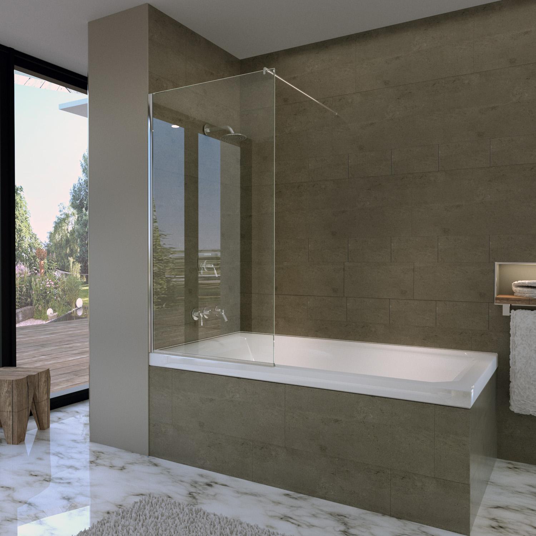 Spritzschutzwand für Badewannen   Glaswerk20