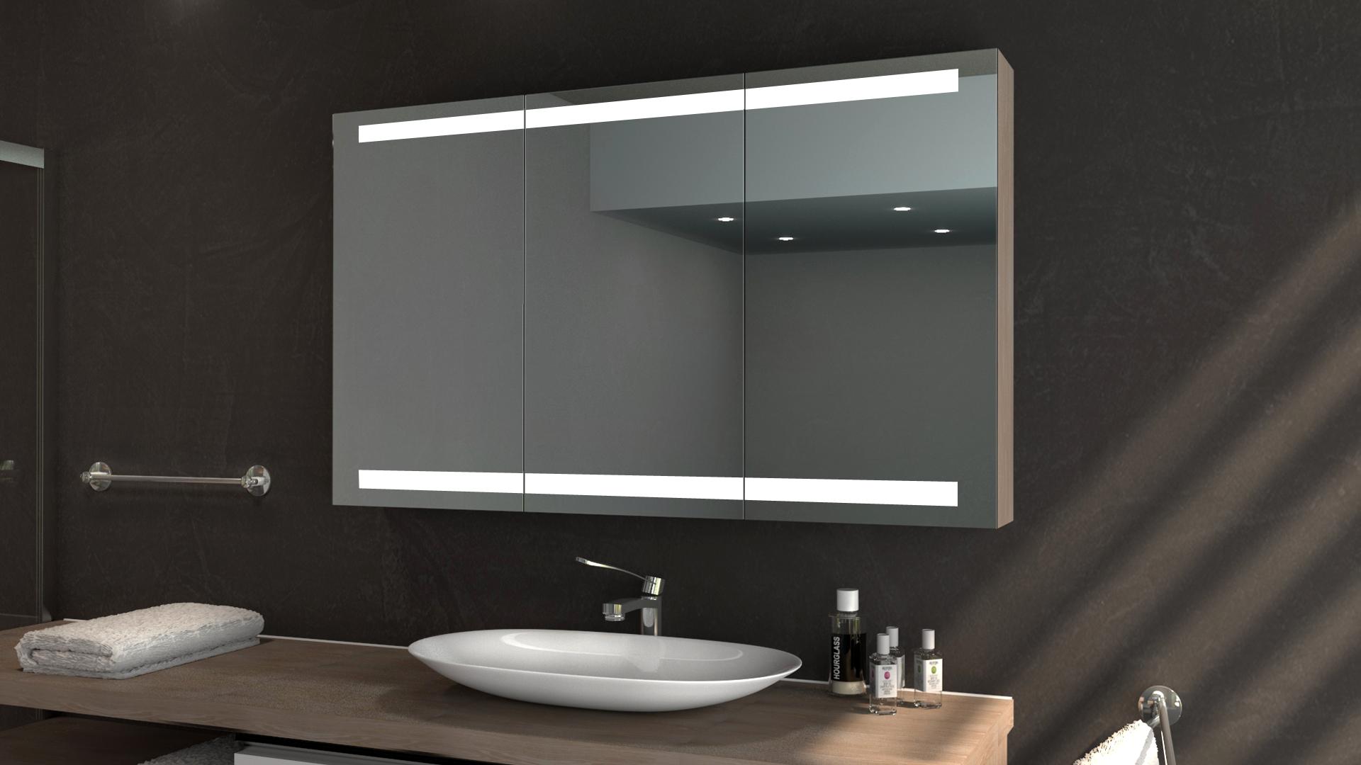 Spiegelschrank AURELIA mit LED Beleuchtung   Glaswerk20