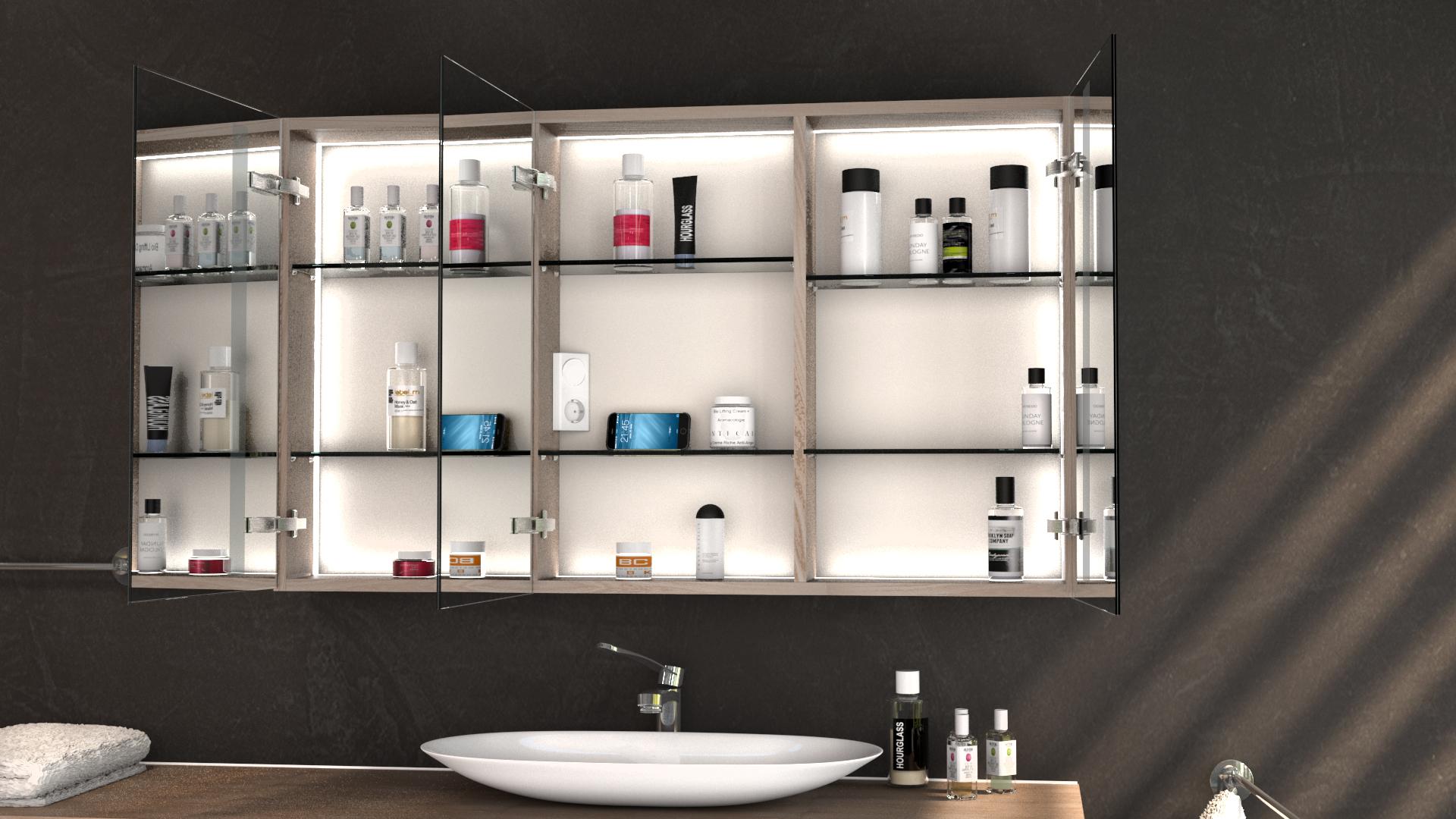 LED Badspiegelschrank ASINA nach Maß   Glaswerk20