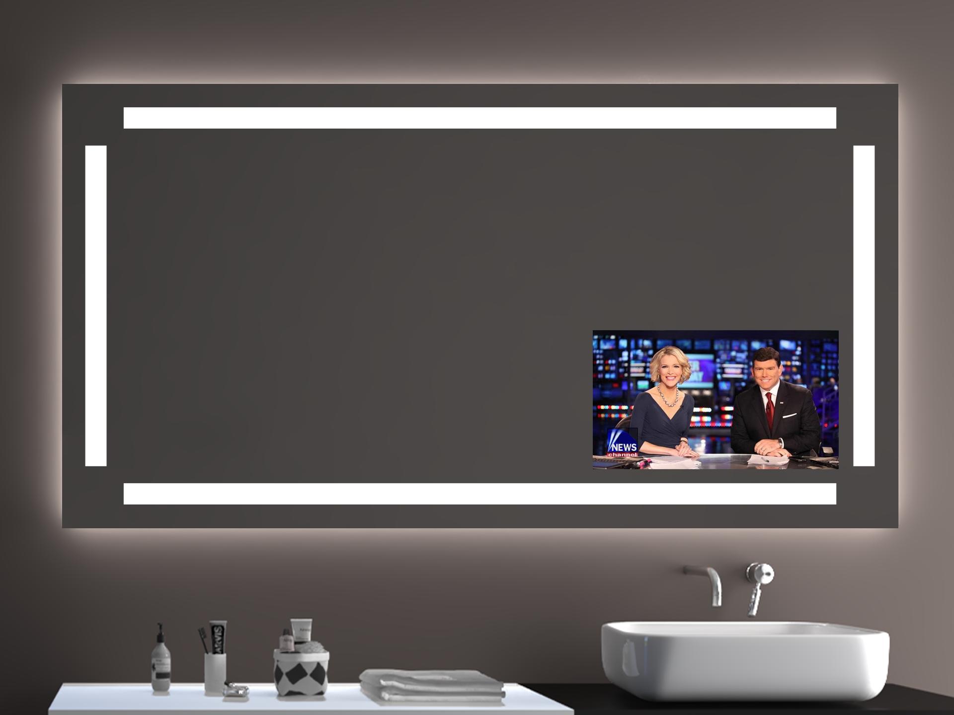 Tv In Spiegel : Dekorationen stilvolle spiegel mit integriertem tv led spiegel