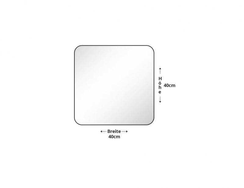 Kristallspiegel quadrat 40cm x 40cm for Kristallspiegel