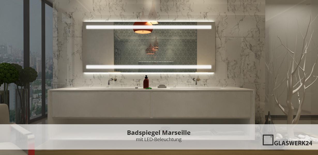 Badspiegel mit LED Beleuchtung - glaswerk24.de