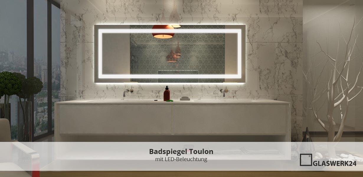Badezimmerspiegel mit Beleuchtung - glaswerk24.de